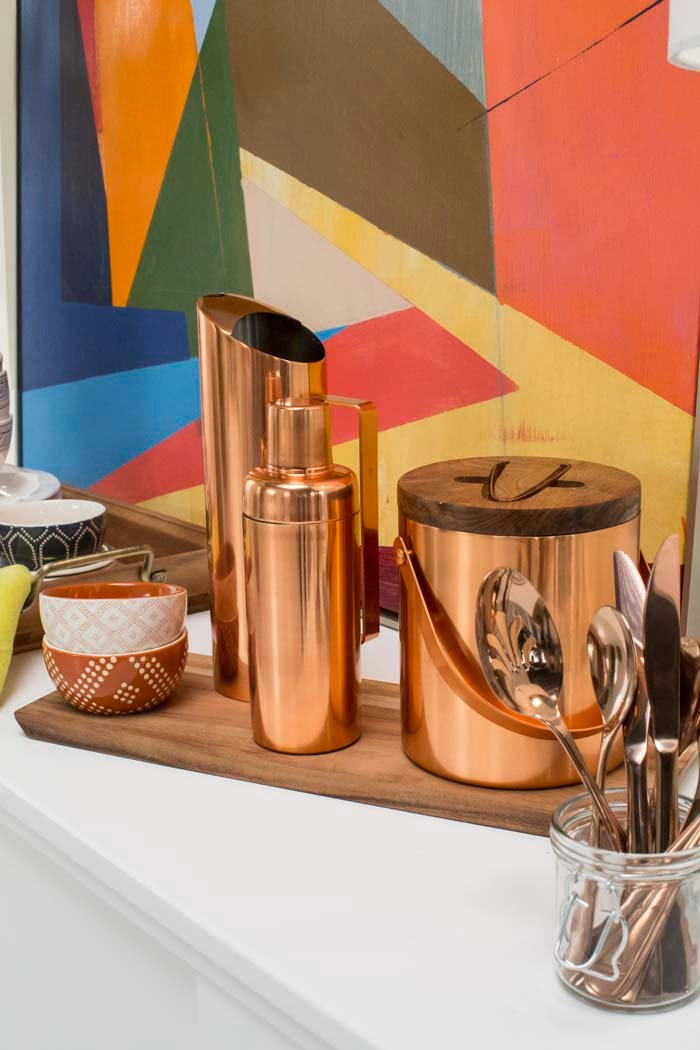 Target Table Setting - Emily Henderson Credenza Copper Modern