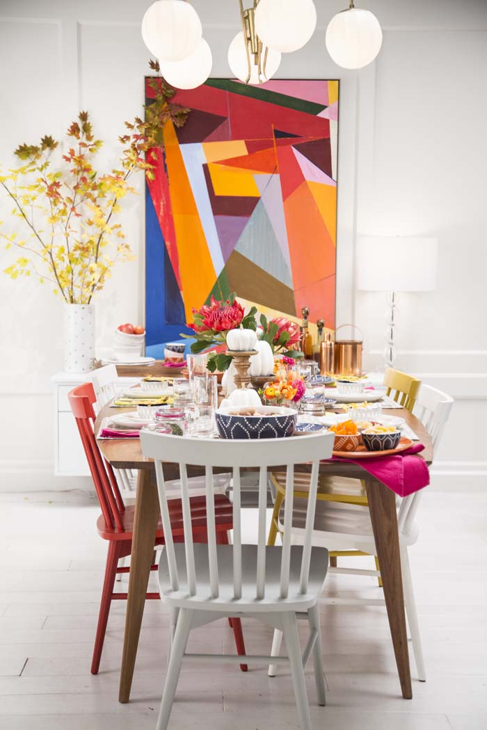 Target Table Setting - Emily Henderson Mid Century Modern Dining Room 1