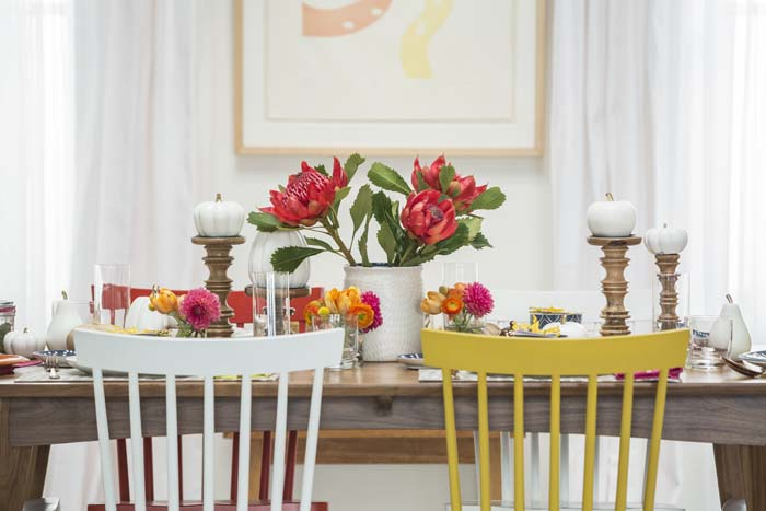 Target Table Setting - Emily Henderson Mid Century Modern Dining Room 3