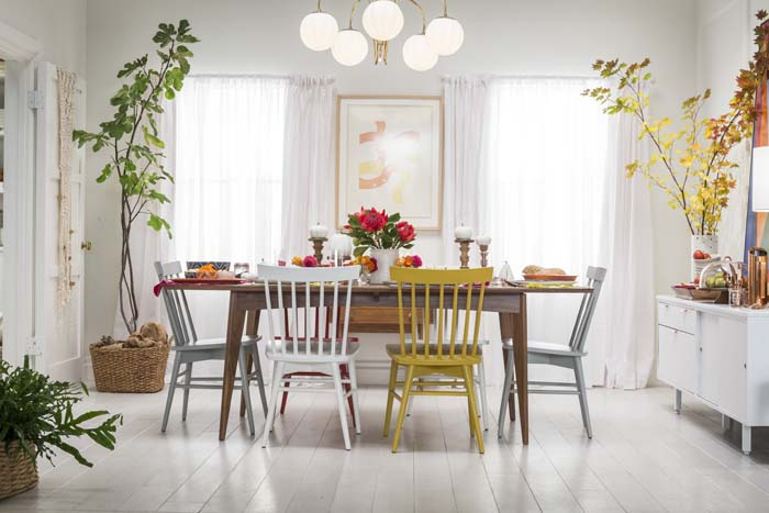 Target Table Setting - Emily Henderson Mid Century Modern Dining Room 4