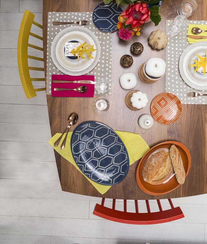 Target Table Setting - Emily Henderson Mid Century Modern Dining Room 6 Overhead_cropped