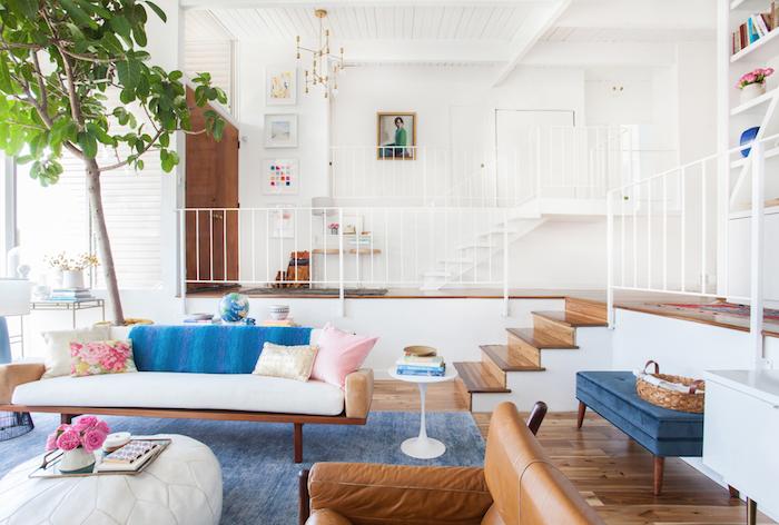 blue-white-vintage-living-room