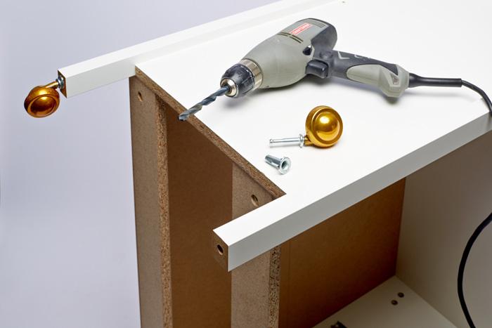 4_DIY Kitchen Dresser Island Ikea Hack_Brass Castors