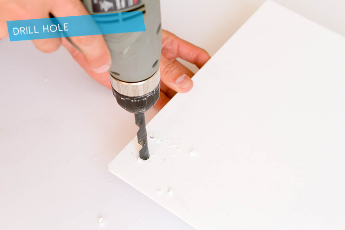 DIY Wallpaper Panel_Drill