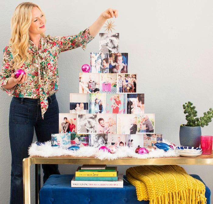 Emily Henderson Holiday Tiny Prints acrylic block christmas tree instagram