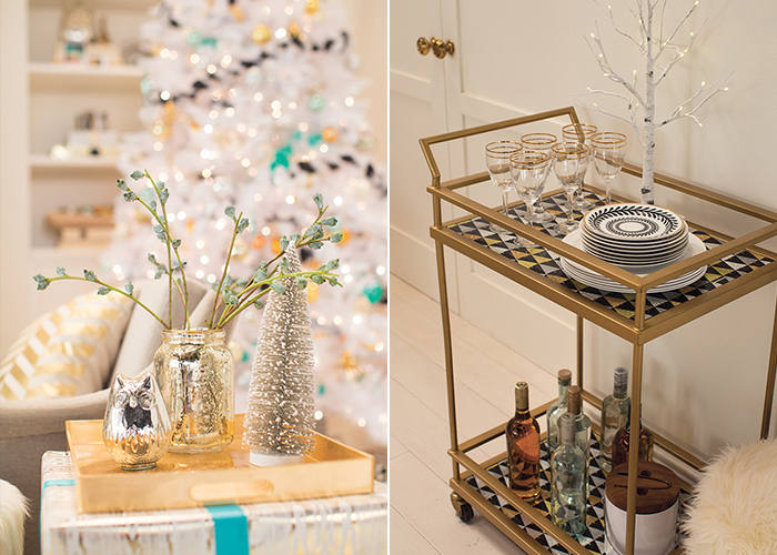 _Holiday Target Emily Henderson Bar Cart and Presents