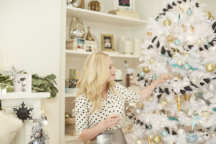 Holiday Target Emily Henderson Decorating Tree BTS