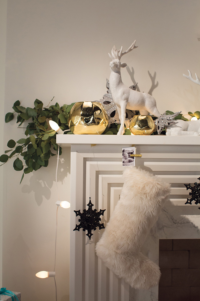 Holiday Target Emily Henderson Mantel Deer Stocking