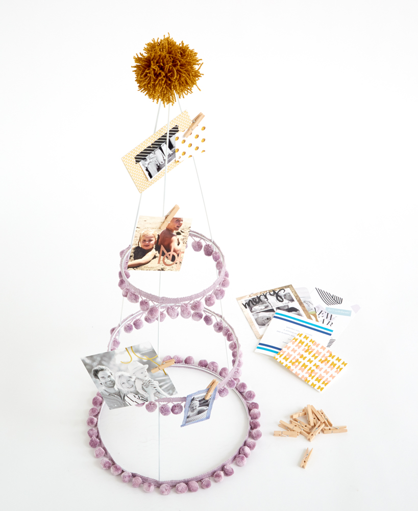 Redbook Emily Henderson DIY Holiday Card Holder Tomato Cage 5