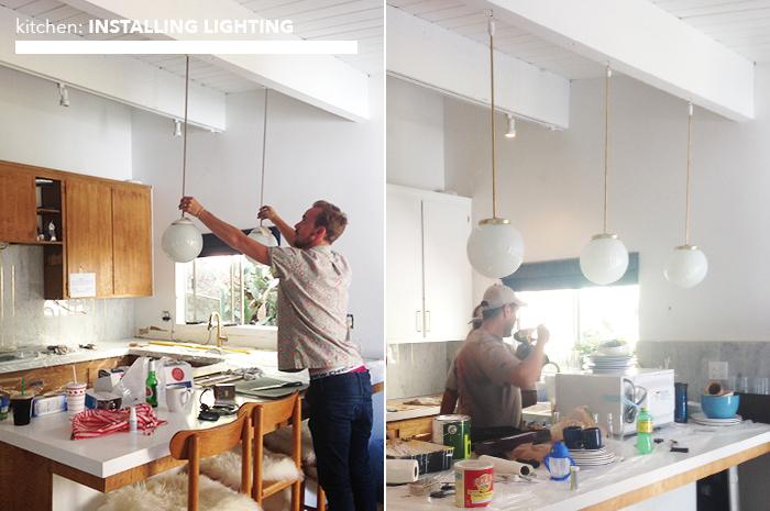 kitchen_installing lighting