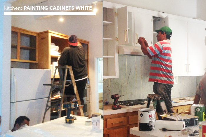 kitchen_painting cabinets white
