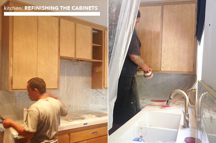 kitchen_refinishing cabinets