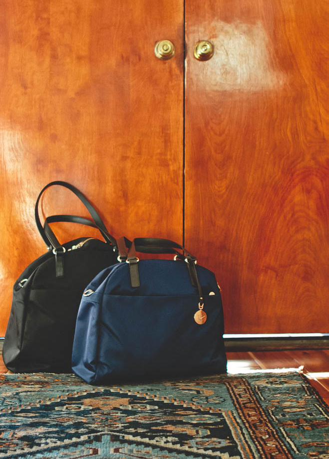 lo and sons bags by door