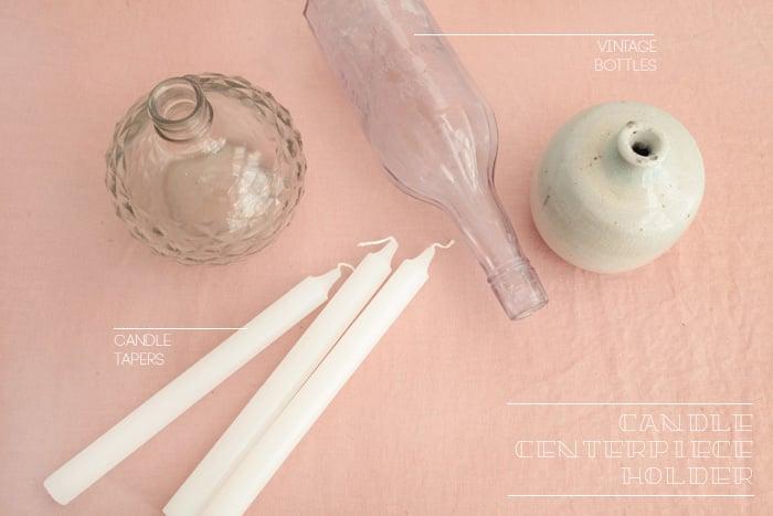 DIY Candle Centerpiece Holder_ingredients