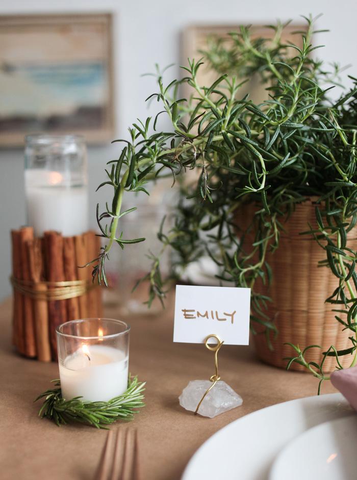 Holiday Tablescape Cinnamon Crystal Placecard