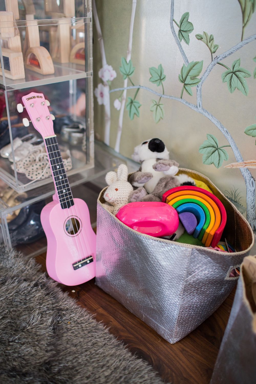 Modern Glam Nursery Lucite Metallic Childrens Room accessories 5
