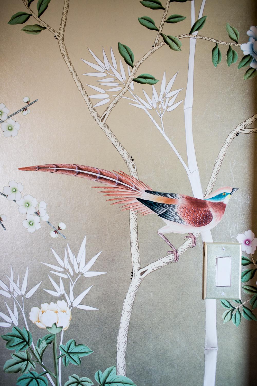 Modern Glam Nursery Lucite Metallic Childrens Room metallic wallpaper