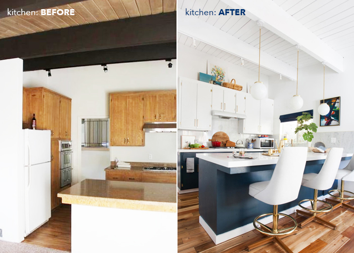kitchen_emily henderson before after