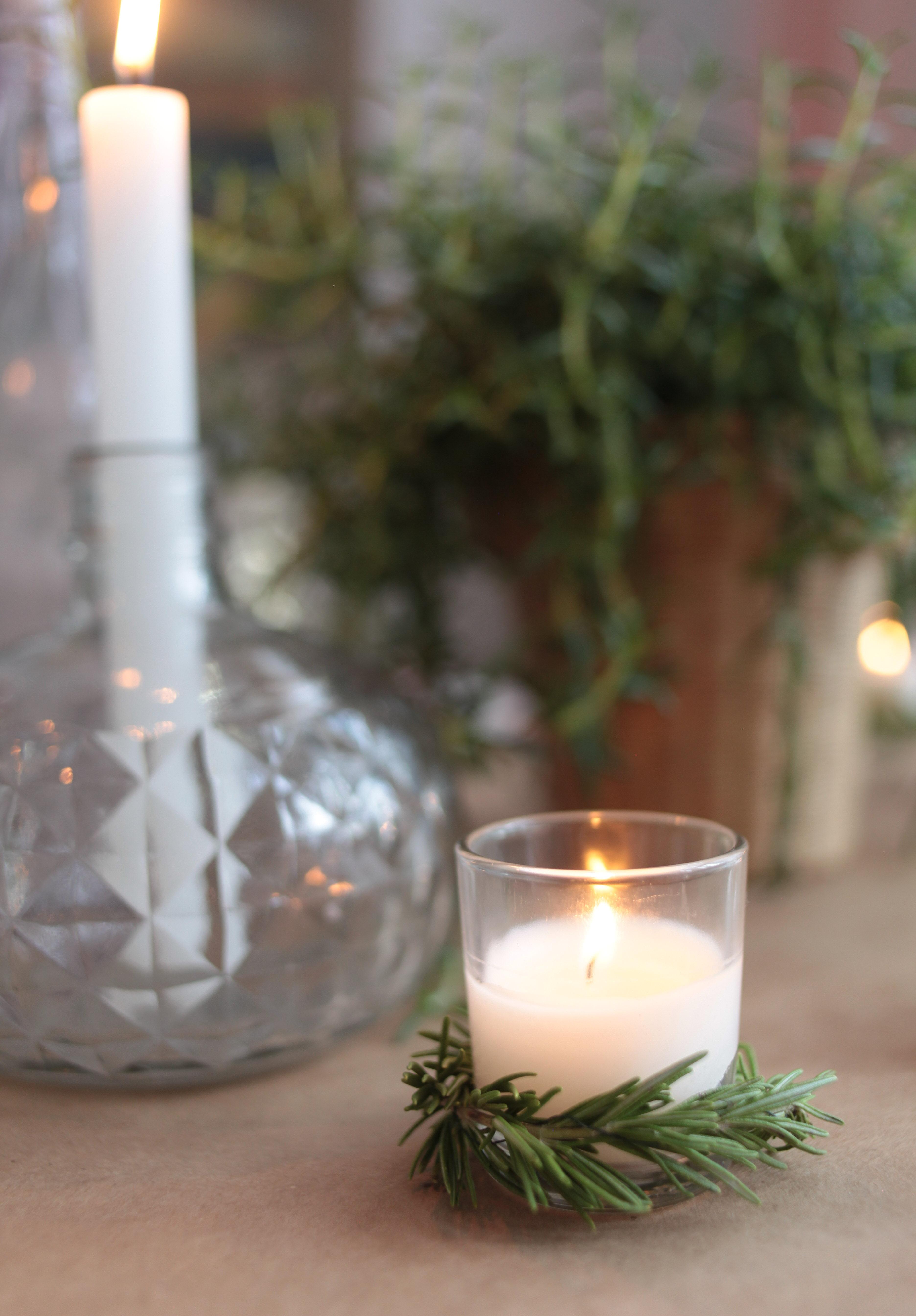 wreath candle DIY