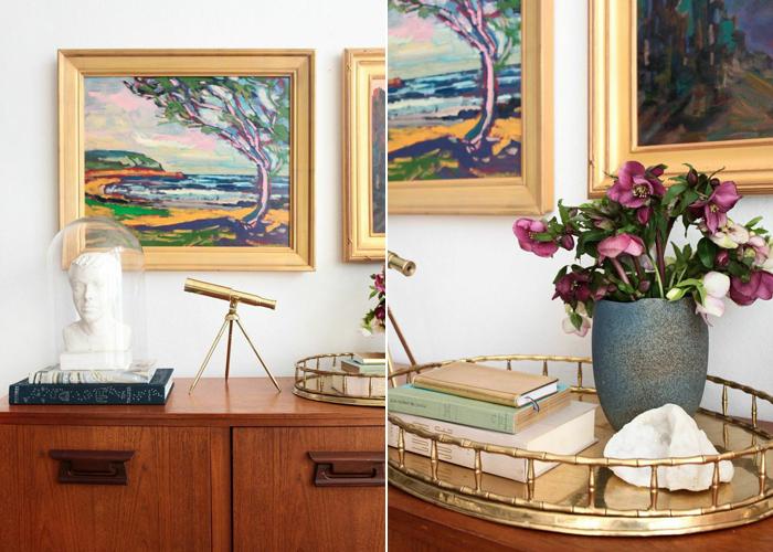 Credenza_4 Ways_Oil Painting Masculine Brass_Mid Century Modern Glam 1