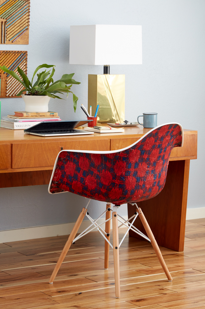 Redbook DIY_Chair ModPodge Desk Midcentury Modern Eames Hack