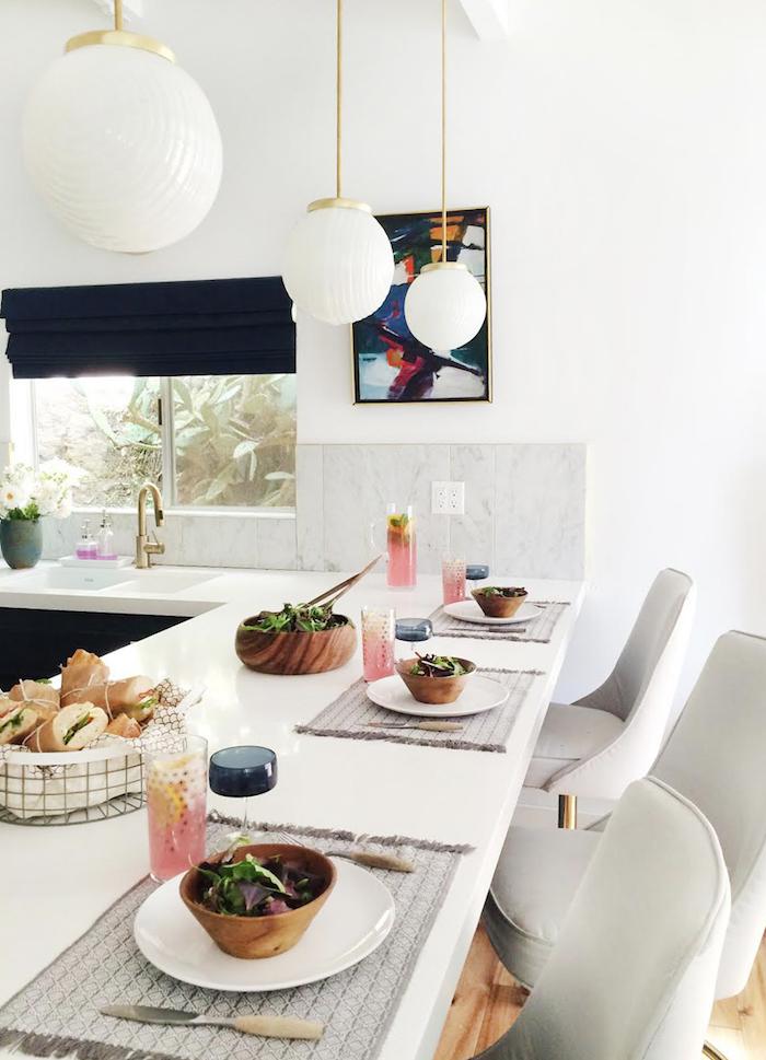 kitchen - navy and white