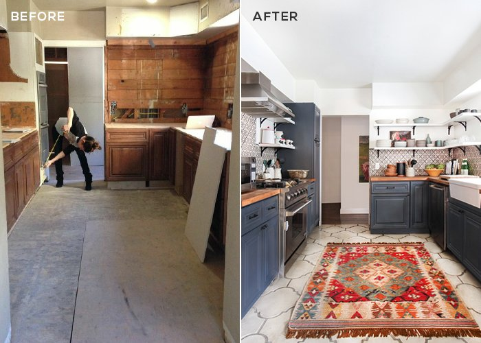 California Country_Kitchen_Emily Henderson_BEFORE AFTER