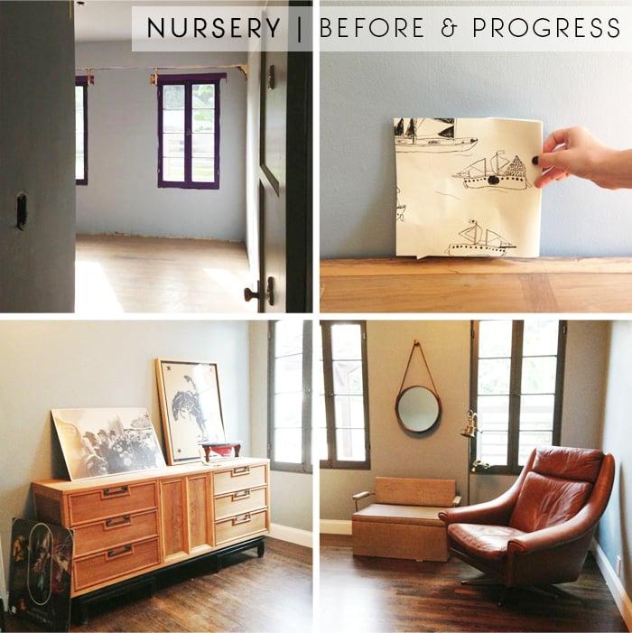 Nursery_mid century modern_kids room_blue_casual_comfy_before