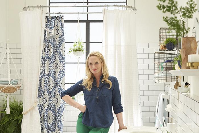 Target_Emily Henderson_Bathroom_Blue White Green Eclectic Bohemian_bts emily1