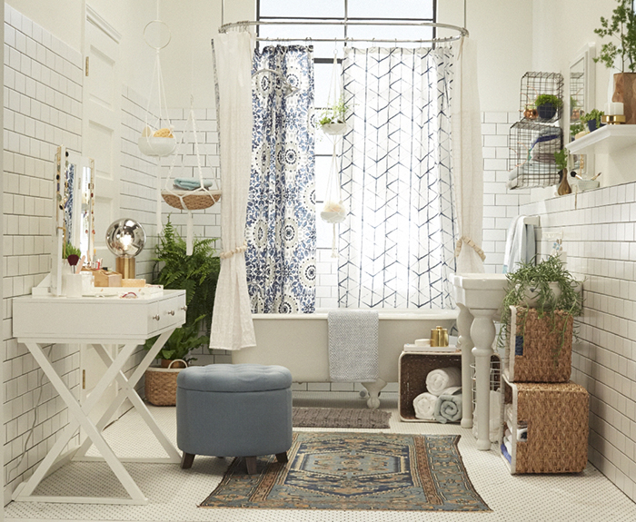 Target_Emily Henderson_Bathroom_Blue White Green Eclectic Bohemian_full view