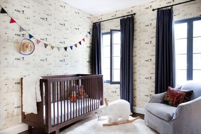 Nursery Emily Henderson Casual Mid Century Neutral White Calm Wood12