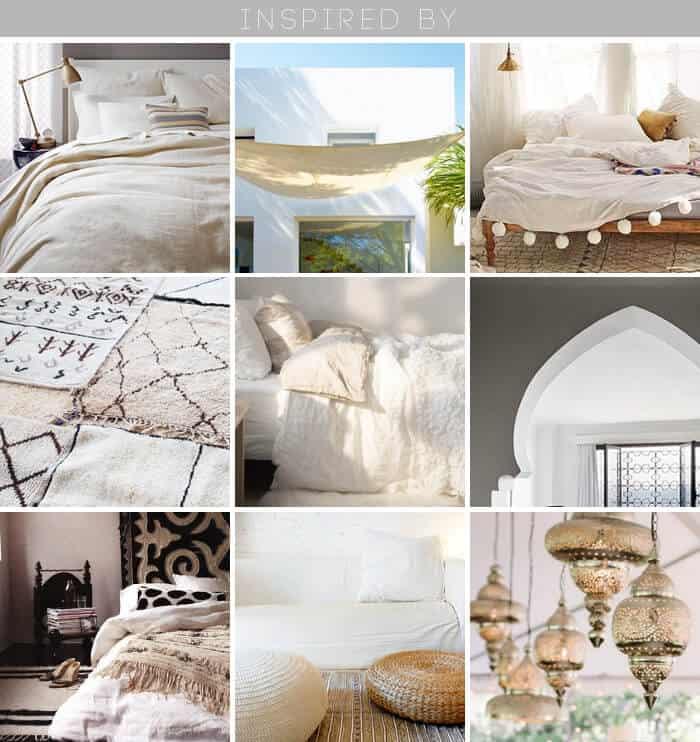 1 Bed 4 Ways_Desert Casual Glam_Neutral_Linen_Gold_Inspiration_Grid