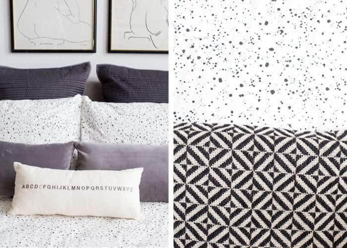 Black White Masculine Clean Modern_bedding_west elm_quilt_graphic