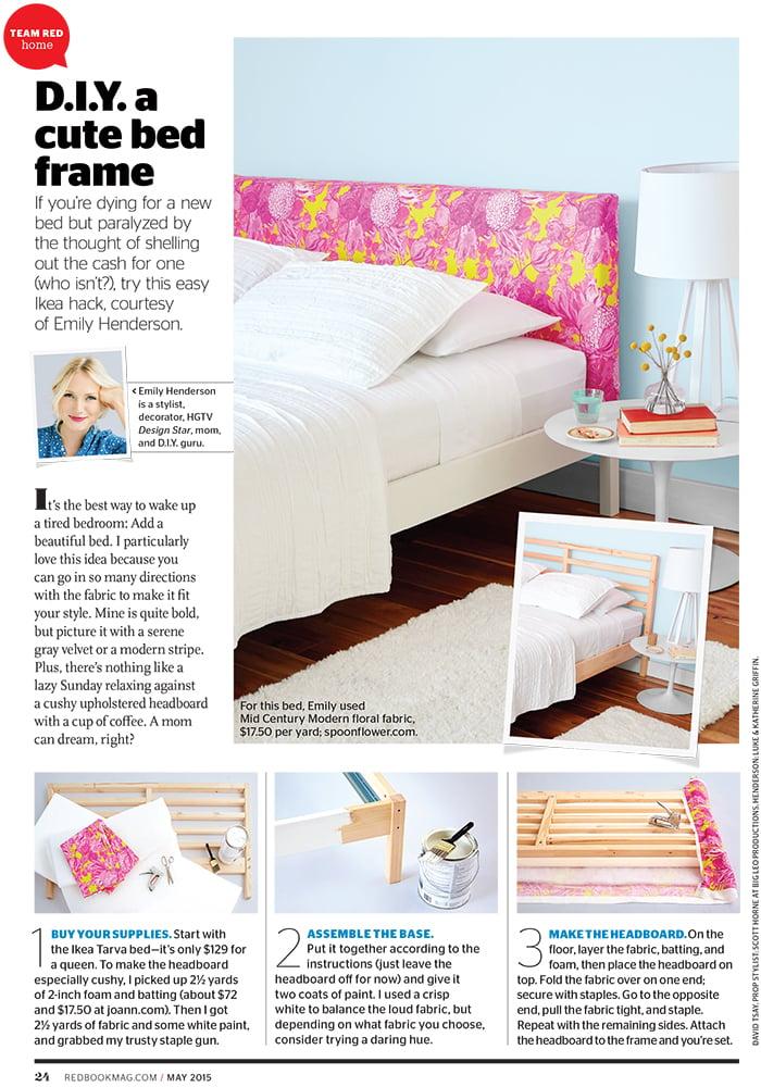 Redbook_Upholstered Headboard_Ikea Hack_Emily Henderson_Floral_Pink_PDF_