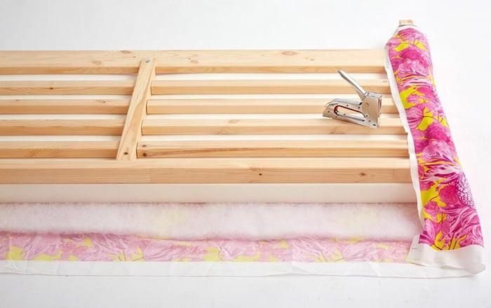 Redbook_Upholstered Headboard_Ikea Hack_Emily Henderson_Floral_Pink_upholstering