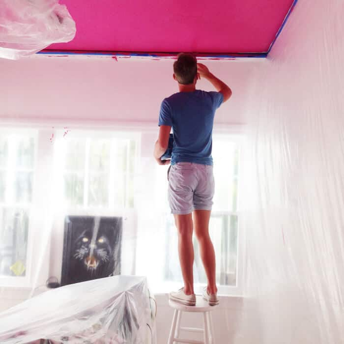 Champagne_Room_Painting_Bando_Pink_Ceiling