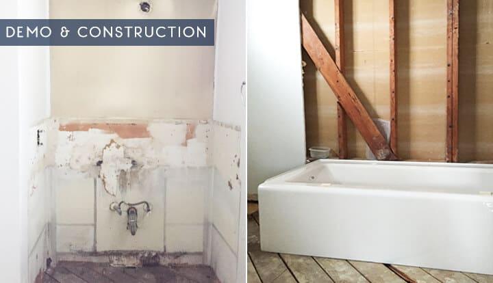 Emily Henderson_Master Bathroom_demo and construction