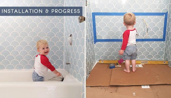 Emily Henderson_Master Bathroom_installation