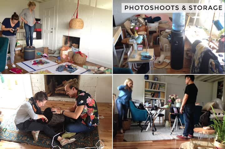 Emily Studio Space_Behind the Scenes_Storage and Photoshoots grid