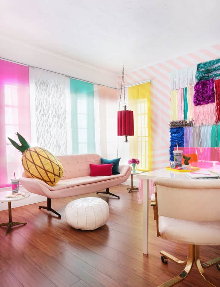 Emily_Henderson_Bando_Office_Vintage_Pink_Couch