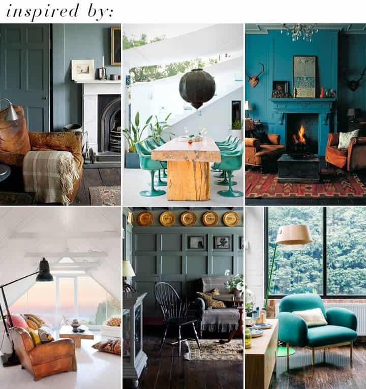 Green Blue_Rustic Modern Cabin_inspiration