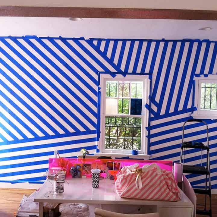 Painting_Striped_Wall_Progress