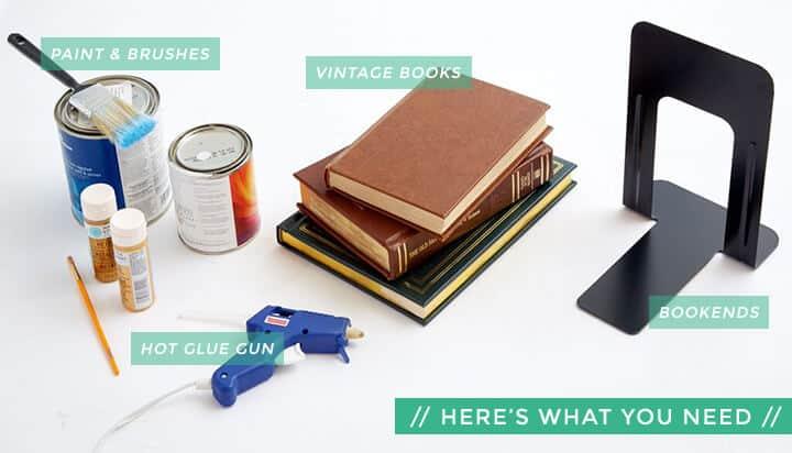DIY_Book Bookends_Easy_Modern_Header_ingredients