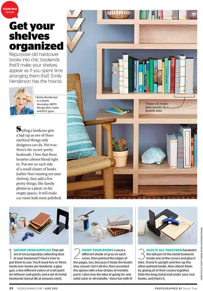 Redbook_DIY_Book Bookends_Emily Henderson