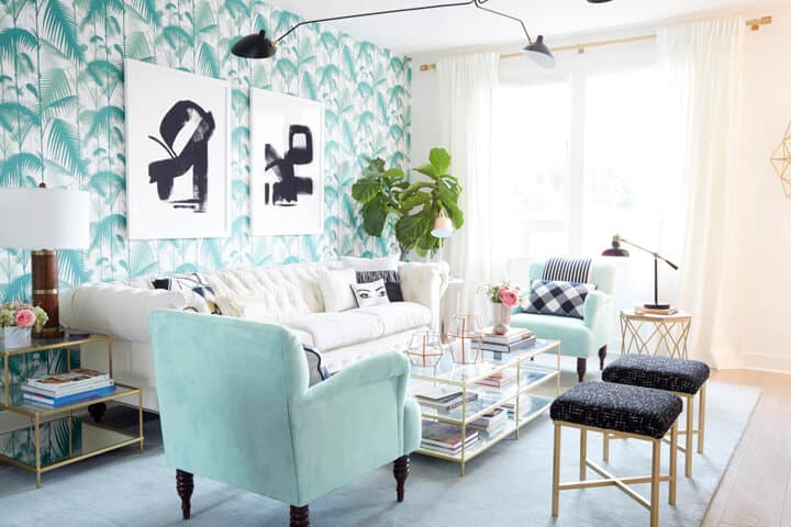 Bright_Regency_Green_Pink_Hollywood_Living_Room