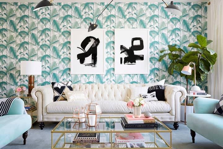 Emily Henderson_Nicolette Mason_Living Room_Pink_Green_Regency_Modern