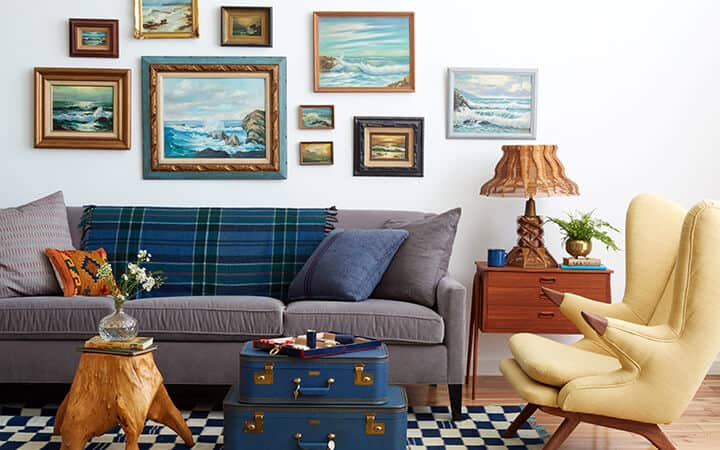 1 Sofa 4 Ways_Redbook_DIY_Styled Book_Emily Henderson_Blue_Green_Country_Rustic_Hipster Cabin