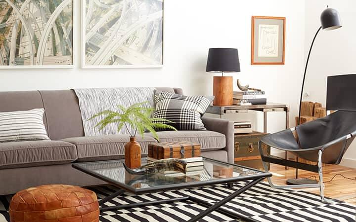 1 Sofa 4 Ways_Redbook_DIY_Styled Book_Emily Henderson_Masculine_Modern_Black_White