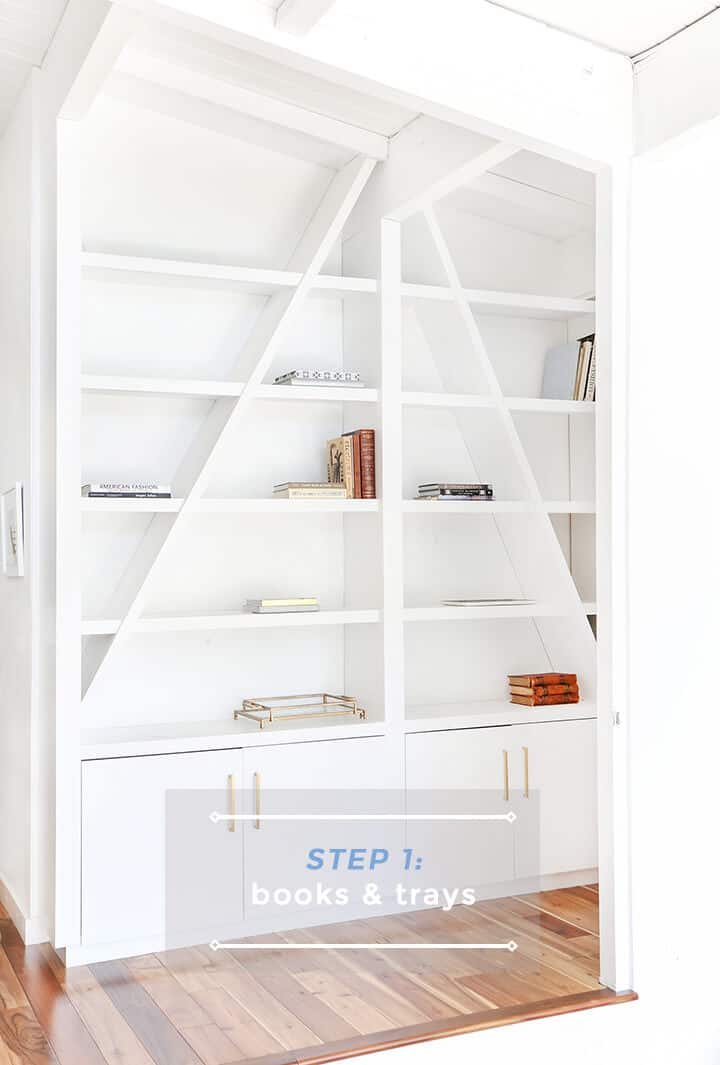 3 Steps to Styling Your Bookcase_Emily Henderson_Step 1