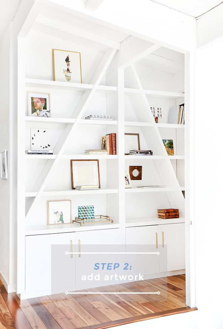 3 Steps to Styling Your Bookcase_Emily Henderson_Step 2